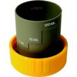 Bouchon doseur jaune pour réservoir à matières