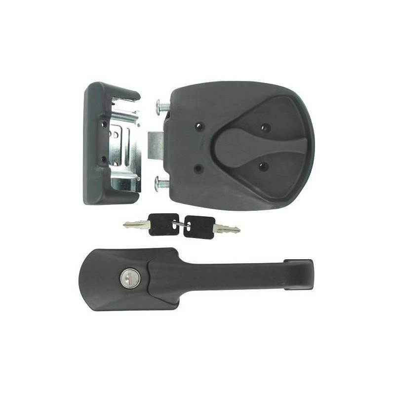 Serrure de porte camping car fap m1 poign e noire 235 x 60 mm achat accessoires camping - Mecanisme serrure porte interieure ...
