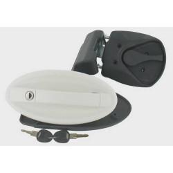 Serrure de porte camping car FAP M1 ovale blanche 234 x 113 mm